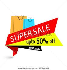 mega sale paper tag banner flat stock vector 494183080