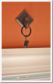 Curtain Hanging Hardware Decorating No Sew Faux Roman Shade Hang Curtains Target And Ring