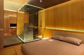 bathroom in bedroom ideas mr chou s apartment chrystalline architect hotel bedrooms