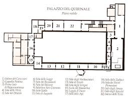 Clarence House Floor Plan by Piano Nobile First Floor Plan Palazzo Quirinale From 1870