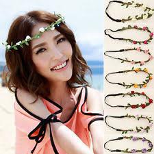 flower hair bands new women fashion flower chain jewelry hollow elastic hair