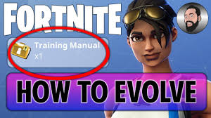 fortnite how to get a training manual u0026 evolve youtube