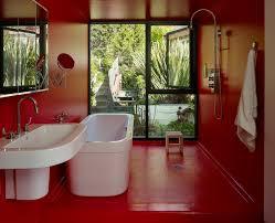 diy painted concrete floor ideas bathroom modern with pedestal