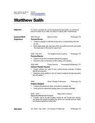 Resume Templates Spanish Teacher Resume Objective Sample Best Resume Collection