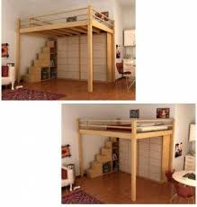 How To Build A Loft Bunk Bed With Stairs by Full Size Loft Bed With Desk Underneath Foter
