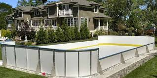 Build A Backyard Ice Rink Synthetic Ice Basement And Backyard Rink Kits Hockey Shooting