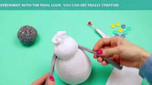 easy sock snowman crafts tutorial youtube