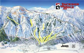 Alps On A Map Trail Map Winter Jackson Hole Resort