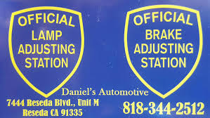 brake and light certificate official brake and light inspection dmv approved reseda