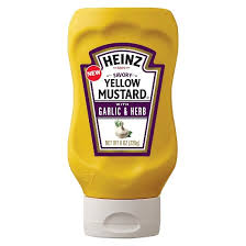 plochman s mustard heinz savory yellow mustard with garlic herb 8oz target