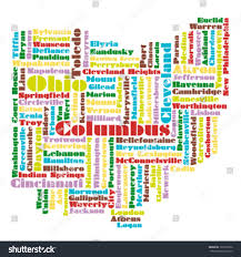 Ohio State Map by Word Cloud Map Ohio State Stock Vector 103162652 Shutterstock