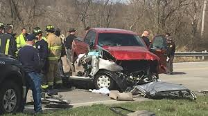 semi and car collide in hamilton wkrc