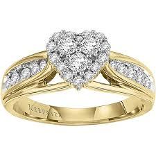 engagement ring walmart keepsake hearts desire 1 2 carat t w certified 10kt