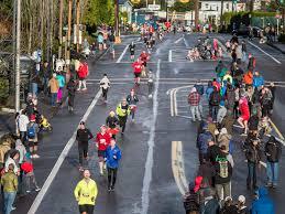 holiday half marathon in portland by foot traffic