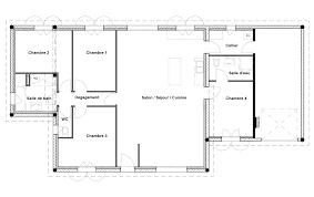 plan maison 120m2 4 chambres