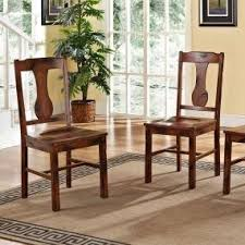 Oak Table And Chairs Amazon Com 6 Piece Solid Wood Dining Set Dark Oak Table