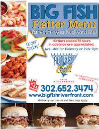 Backyard Bar And Grill Menu by Seafood Restaurant Rehoboth Beach De Big Fish Grill