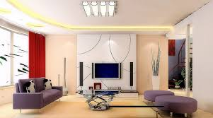 modern family room wall decorating ideas with red curtains and