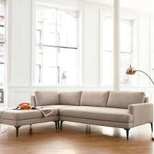 west elm andes sofa review west elm andes large 3 seater lhf sectional sofa twill stone at