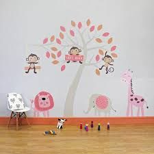 rose jungle animals wall stickers parkins interiors rose jungle animals wall stickers