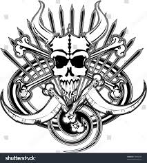 logo beast pirate skull bones death stock vector 16694698