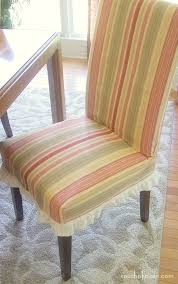 Striped Dining Chair Slipcovers Decorating Parsons Chair Slipcovers Parsons Chairs Pottery