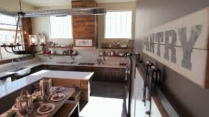 modern industrial kitchens lowering from high to show modern kitchen and dining table a high