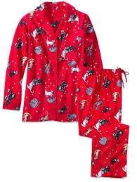 cat print flannel pajamas womens novelty sleepwear