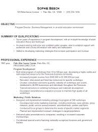 Sample Resume Job Objectives by Best Resume Objective Berathen Com