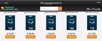 gift cards for steam where can you get steam gift cards quora