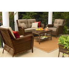 Replacement Cushions For Wicker Patio Furniture - ty pennington style mayfield 4 pc deep seating set sears