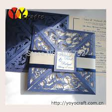 Folded Wedding Invitations Inc038 Laser Cut Glitter Wedding Invitation Cards Handmade Folded