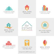 coloured templates coloured real state logo templates vector free download