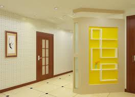 Decorative Wooden Partition Wall In Modern Living Room Design - Beautiful wall designs for living room
