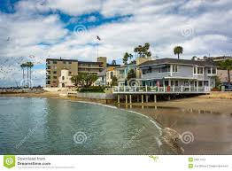 beachfront houses in corona del mar stock photo image 50617614