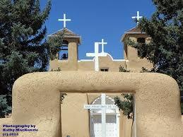church crosses crosses front view of san francisco de asis mission church