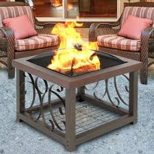 outdoor low fire pit portable fire pit table chiminea fire pit