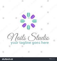 vector logo template nail studio salon stock vector 494714311