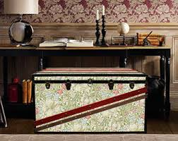 Exclusive Home Decor Exclusive William Morris Wallpaper Vintage Steamer Trunk
