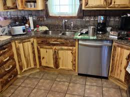 custom made kitchen cabinets rustic aspen log kitchen cabinets and built in wall spice