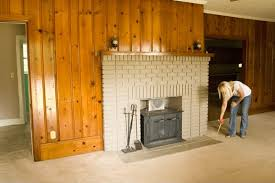 Updating Wood Paneling My 82 Fireplace Makeover The Lettered Cottage