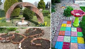 Diy Garden Ideas Diy Ideas For Creating Cool Garden Or Yard Brick Projects
