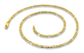 plated necklace chains images 14k gold plated sterling silver 24 quot figaro chain 3 4mm gif