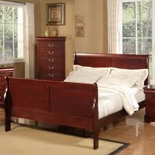 Brown Wood Bed Frame Chocolate Brown Leather Bed Frame With Metal Based And High