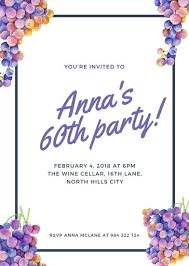 60th birthday invitation templates canva