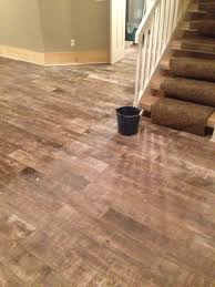 washing porcelan tile in basement nine apple trees