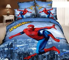 Batman Double Duvet Cover 3d Spiderman Kids Cartoon Bedding Comforter Sets Bedroom Children