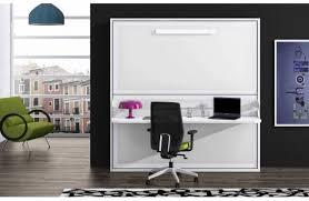 lit escamotable bureau intégré lit escamotable et bureau intégré leandro en panneaux de particules