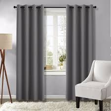 amazon com grey curtains blackout draperies for bedroom gray