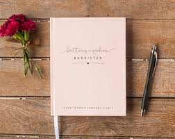 wedding registry books pink guest book etsy
